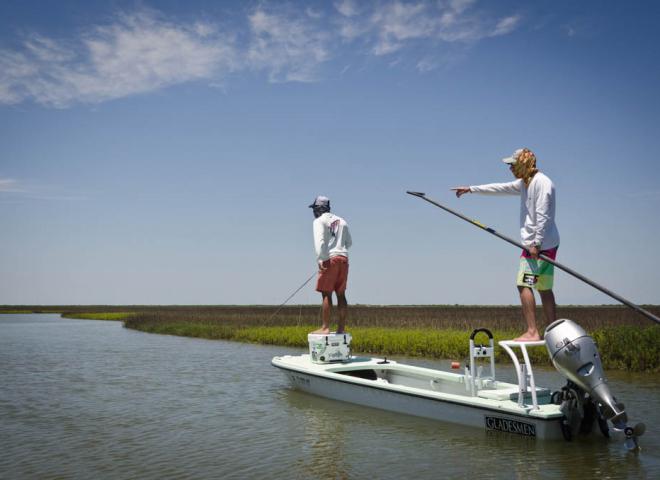 Galveston Poling Skiff Fly Fishing