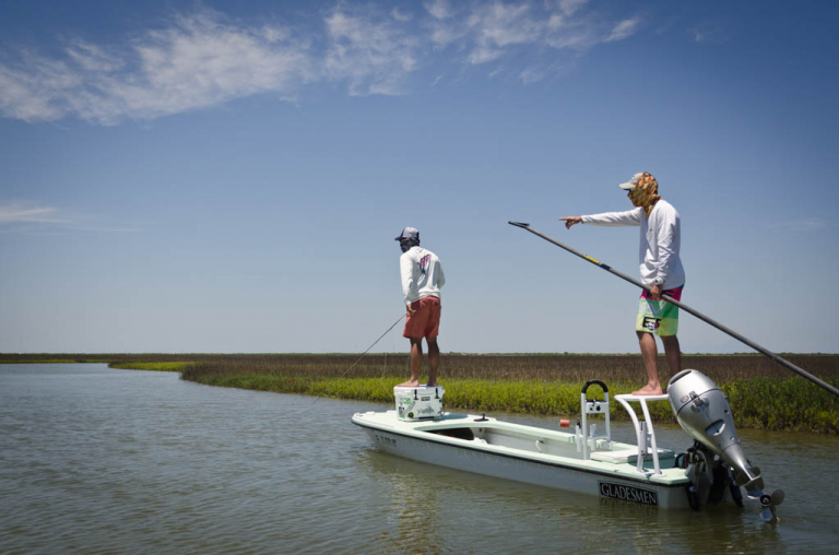 Galveston Poling Skiff Fly Fishing
