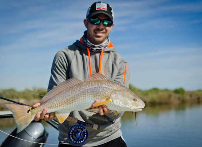 Galveston Redfish on Fly