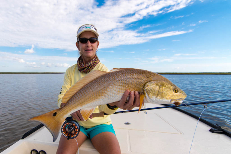 Galveston Fly Fishing Marsh Redfish