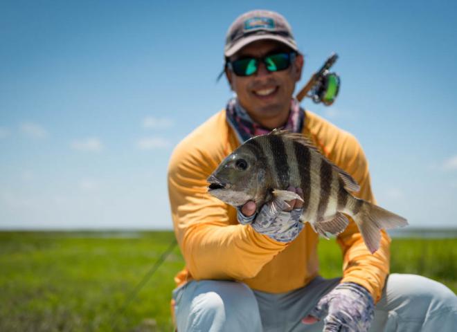 Galveston Sheepshead Fly Fishing