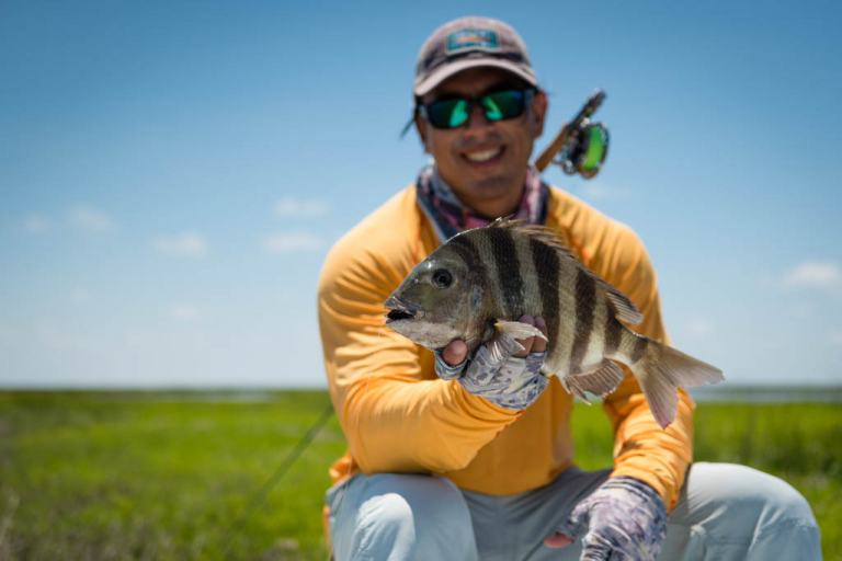 Galveston Sheepshead Fly Fishing