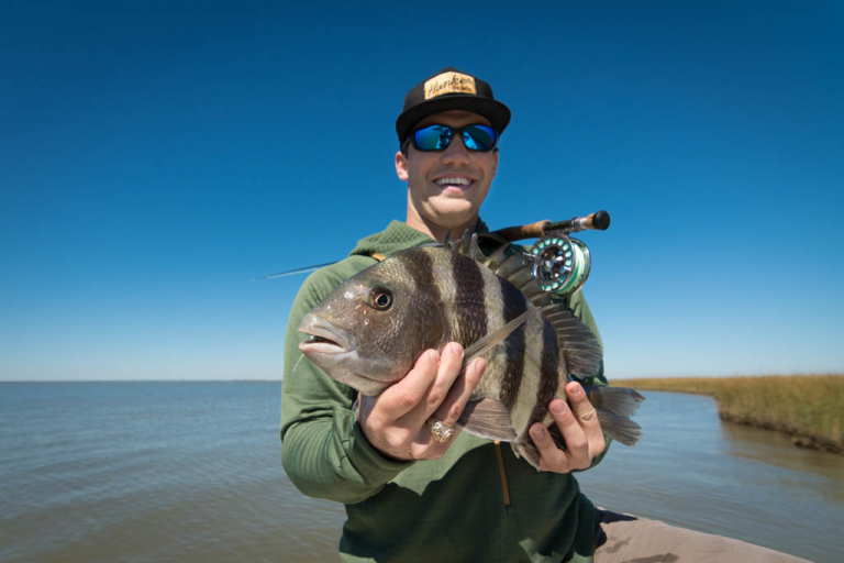 Galveston Sheepshead on Fly