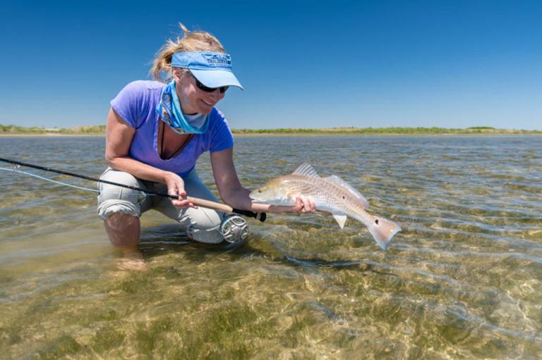Galveston Wade Fishing Redfish Fly Fishing