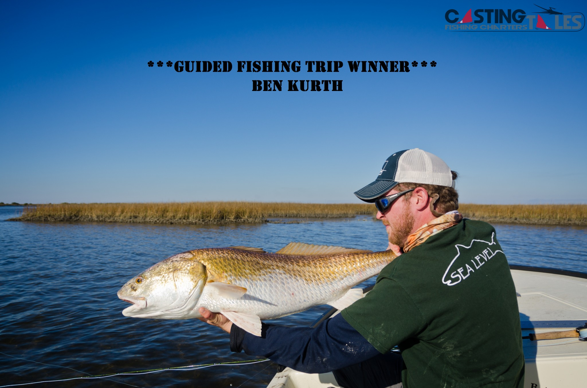 Guided fishing trip giveaway winner casting tales for Free fishing tackle giveaway