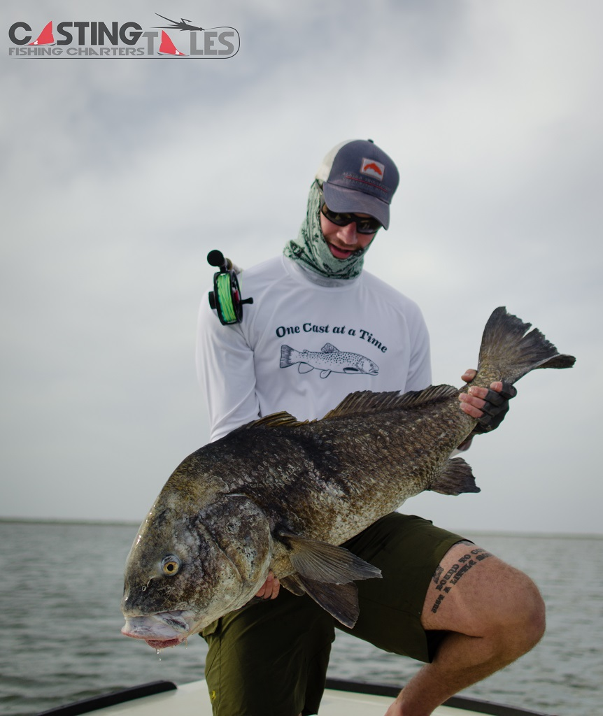 Louisiana Black Drum Fly Fishing